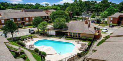 Swimming Pool Drone Shot